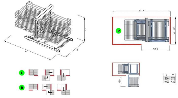 Magic Corner für gerade Ecklösungen » MTS Küchen Küchenstudio mit ...